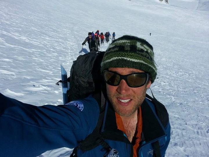 Gran Pardiso haute level route skitour.