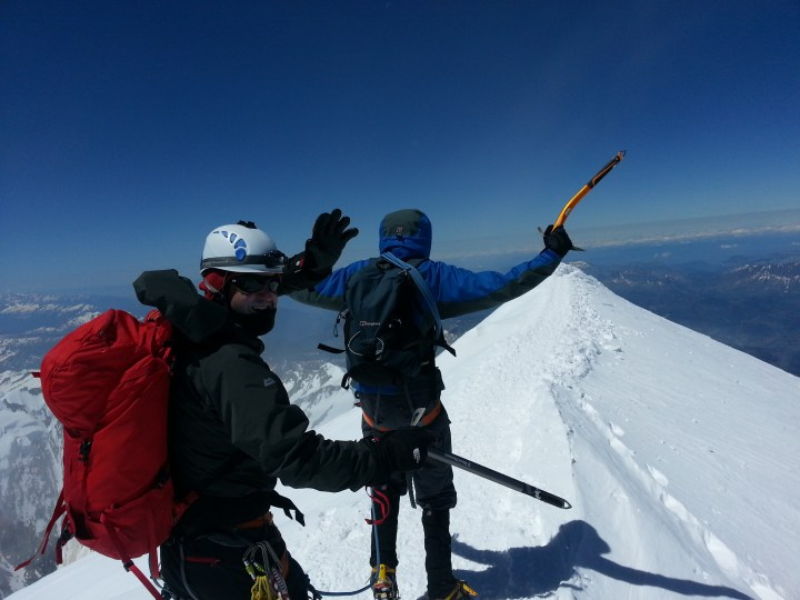 #MontBlanc summit. Well done guys!