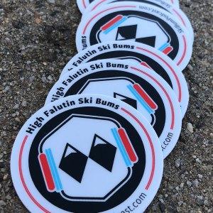 skibumpodcast.com logo roundal sticker