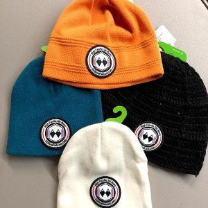 high falutin ski bums knit hat