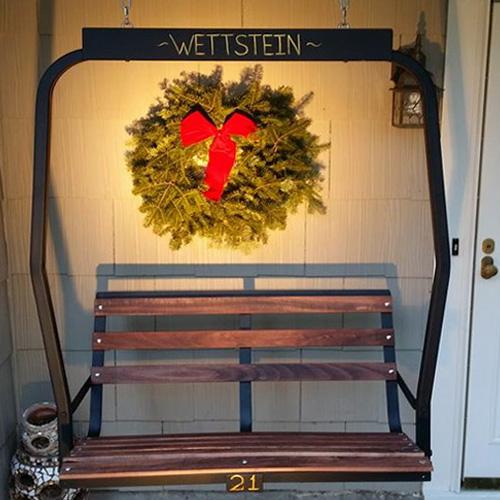 buy ski lift chair antique wood for sale custom refurbished furniture beautifully restored