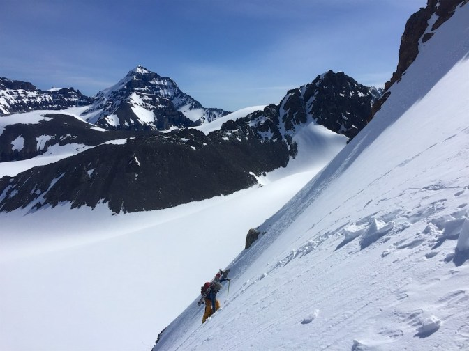 Ascending towards the Col