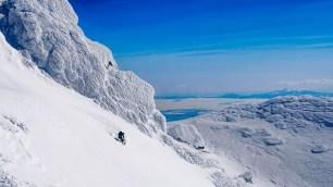 Ryan skiing Rausu Summit