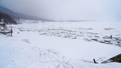 Shiretoko sea ice walking