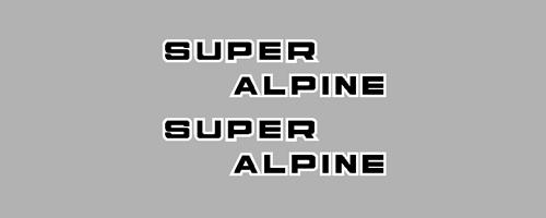 1967 Super Alpine Side Hood Model Brand Logos Decals