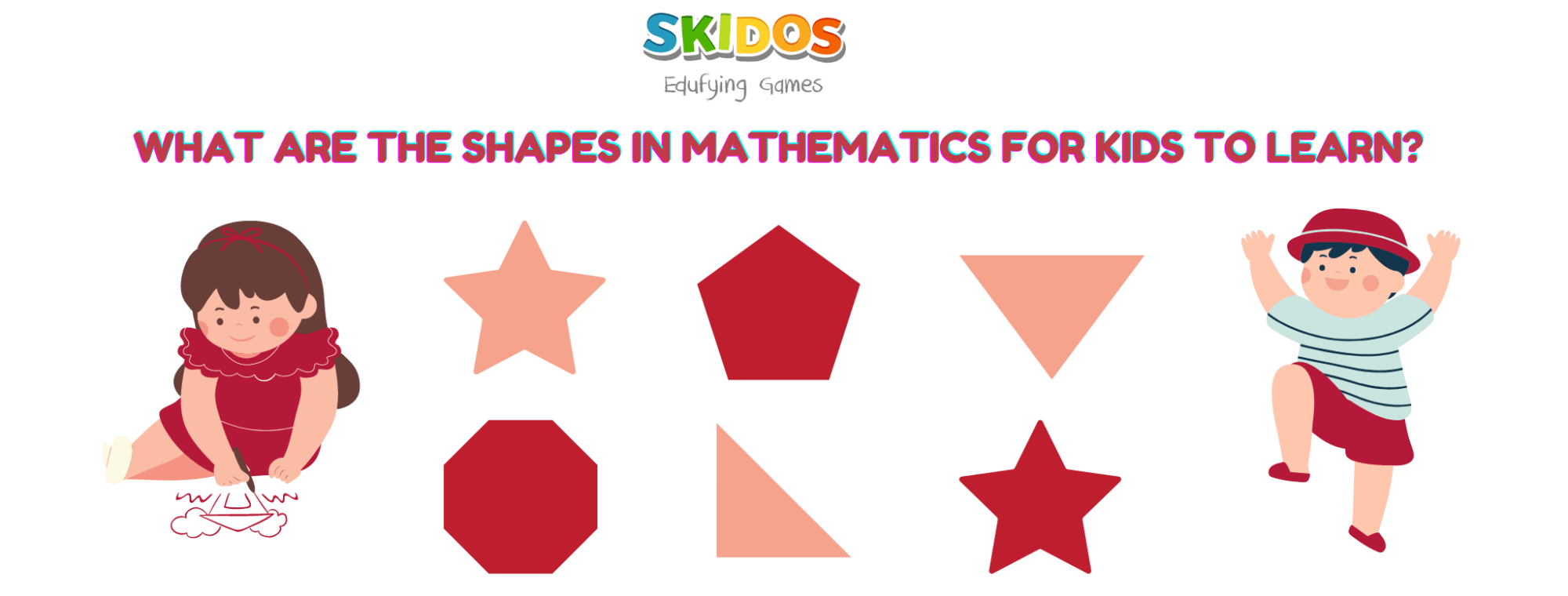 hight resolution of Geometric shapes for Kids with Definition