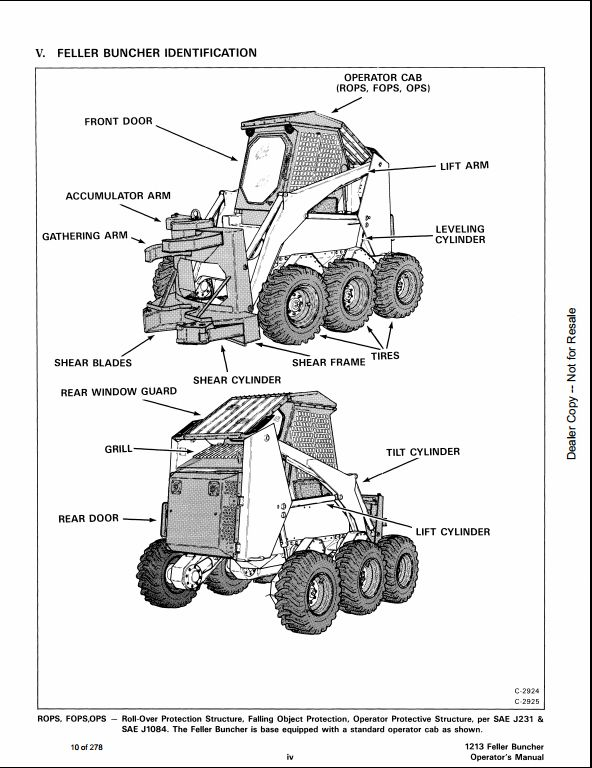 Bobcat 1213 loader feller buncher service manual Download