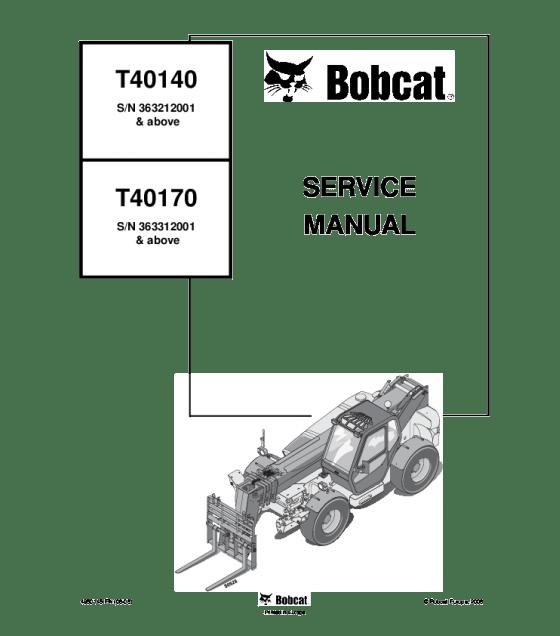 Bobcat t40140 t40170 telescopic handler service manual