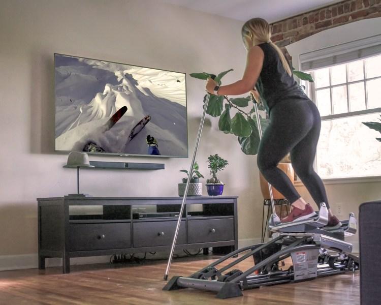 non-impact cardio workout at home - Skier's Edge.