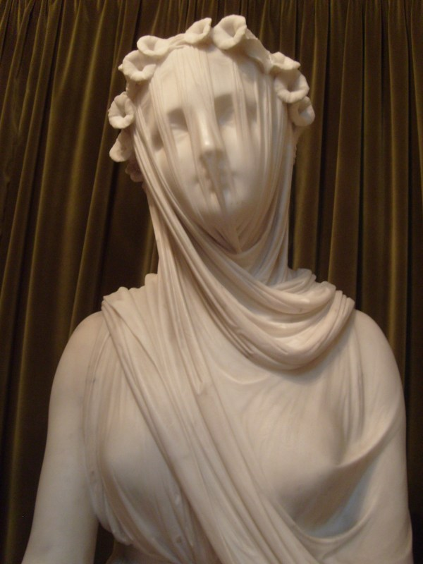 Marble Sculpture- Veiled Virgin- Giovanni Strazza Pics