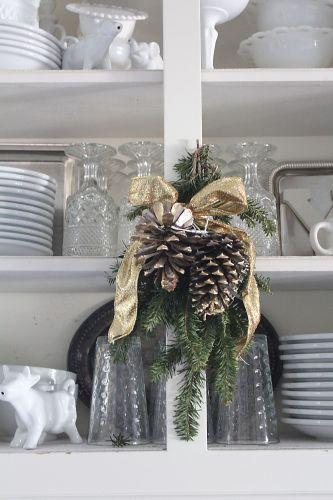 kitchen shelves greenery