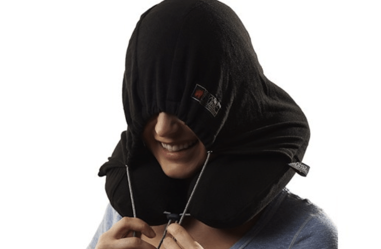 Hooded Travel Pillow Get a good flights rest while you