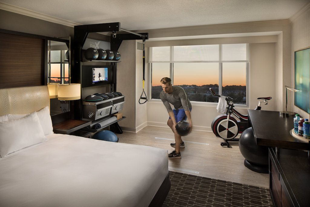 Hiltons New Design Brings the Gym to the Guest Room  Skift