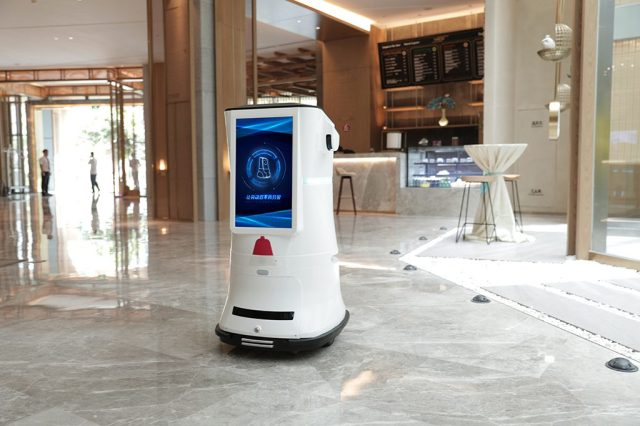robot for hotels from