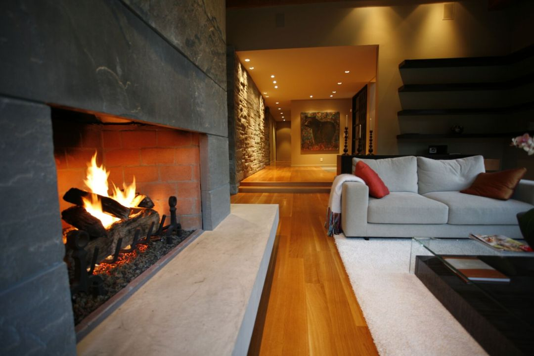 5 Bedroom Whistler home fireplace