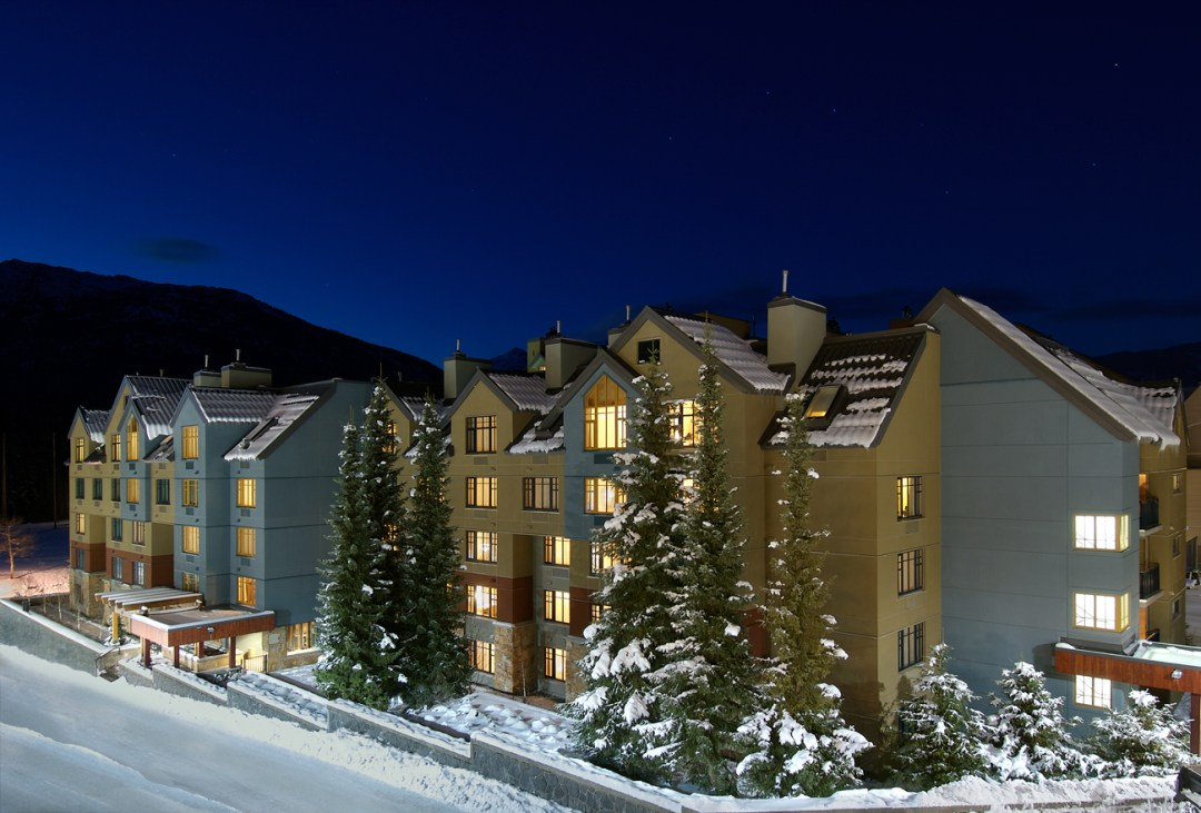 Hilton Whistler Hotel Exterior Winter Side View