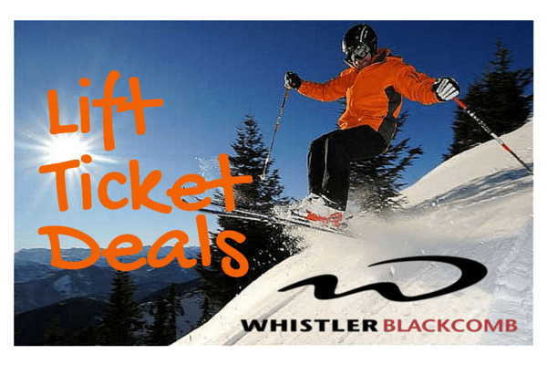 Whistler Blackcomb Lift Ticket Deals 2015-16