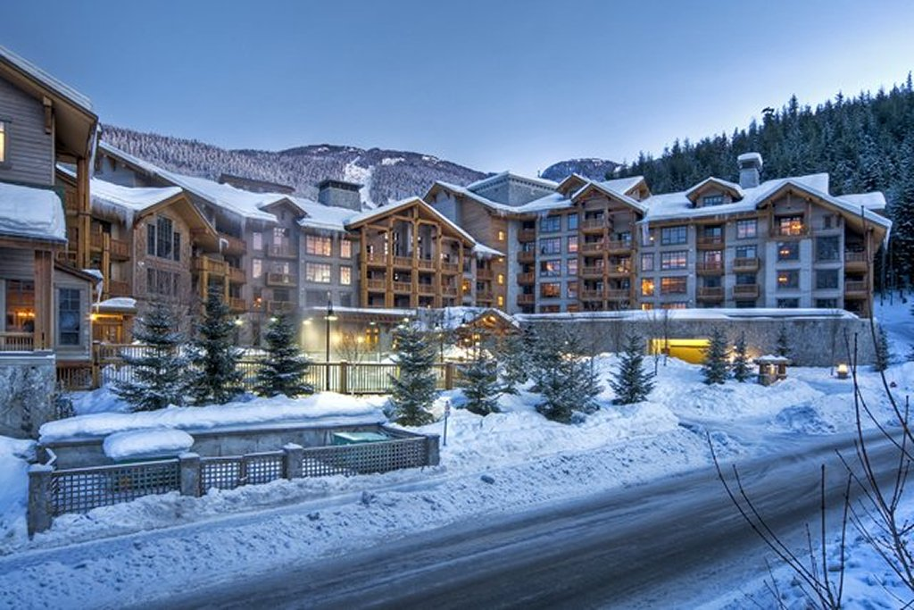 Whistler Luxury Hotels Ski In Ski Out First Tracks Lodge Winter Twilight Exterior