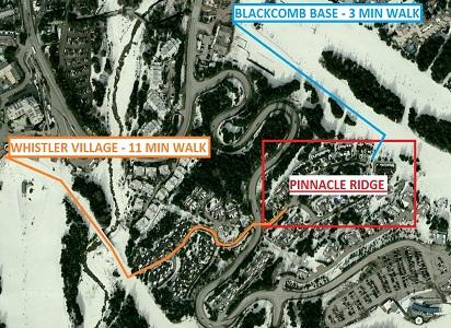Whistler Pinnacle Ridge 5 Bedroom Map