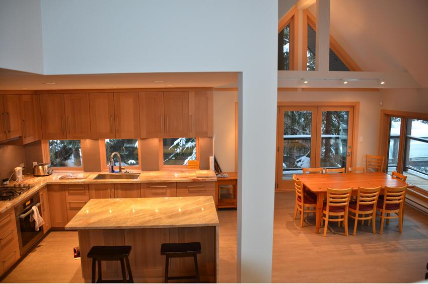 whistler 4 bedroom ski in ski out open concept kitchen