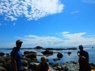 blue skies and big boulders