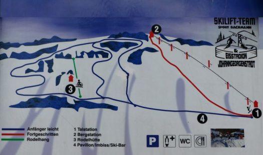 Pistenplan Skilift Erzgebirge, Johanngeorgenstadt