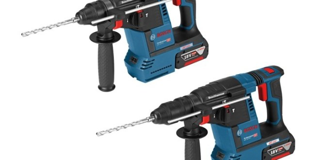Bosch launches two new 18v rotary hammers