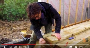 cutting roof timbers