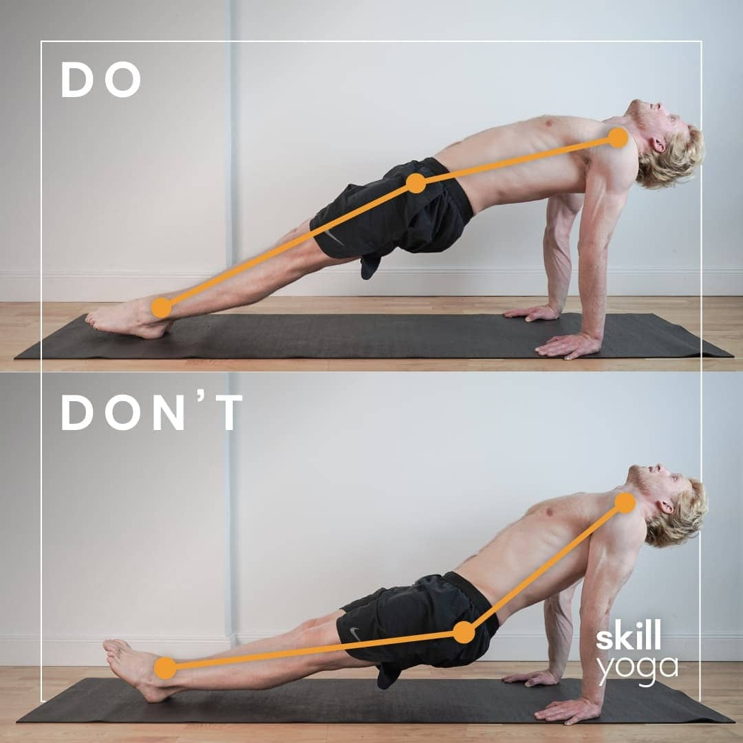 reverse plank do's and don'ts