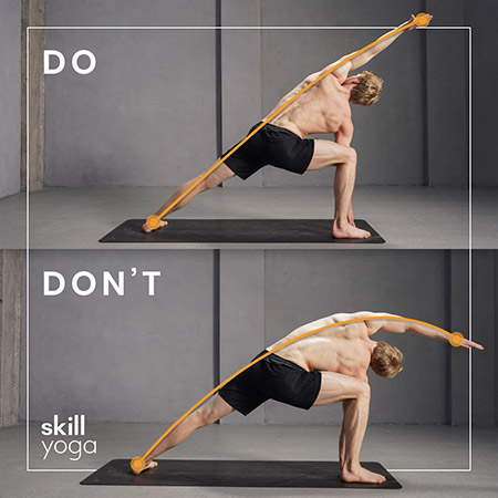 Extended side angle dos and donts of yoga