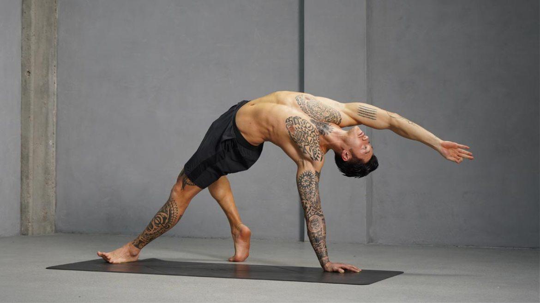 rock star yoga pose