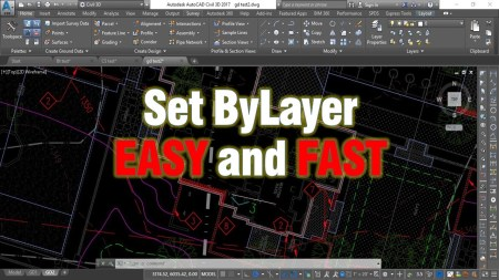 Change multiple objects to ByLayer Effortlessly! AutoCAD Tips