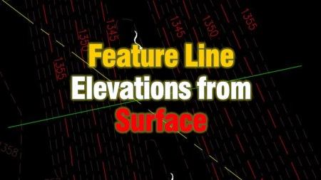 Assign elevations to Feature line from existing surface. Civil 3d Guides
