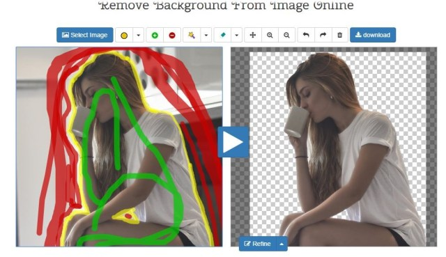 the interface of edit photos for free