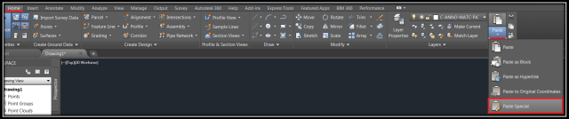 Paste special an image into AutoCAD
