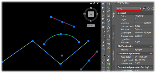 Total Length, Area and Volume of Multiple Objects. EASY! AutoCAD Tips