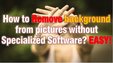 Remove background from pictures easily