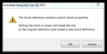 Edit dynamic block in place