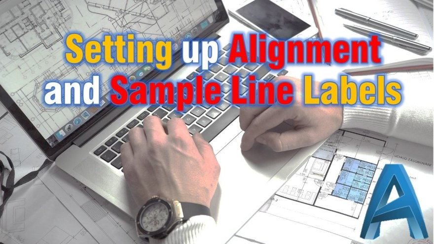 Set up alignment and sample line labels