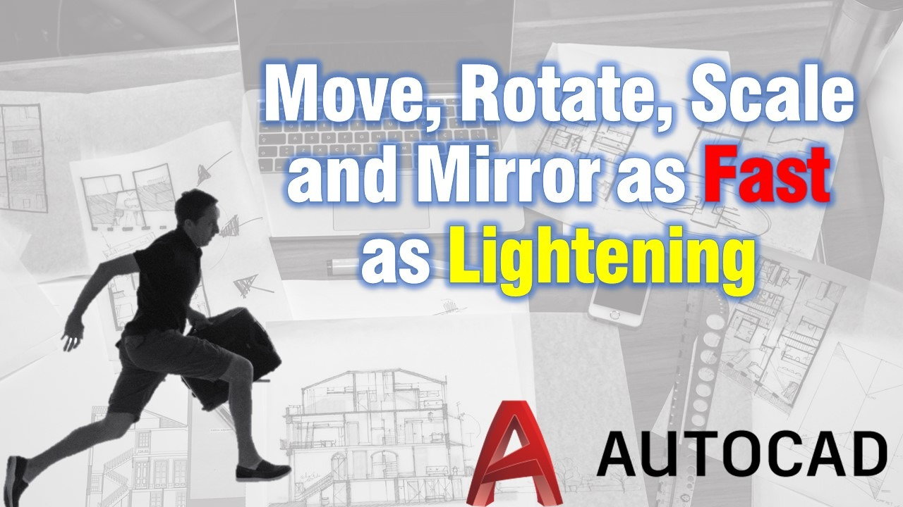 Move, Rotate, Scale and Mirror with one click! in AutoCAD!