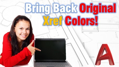 Bring Back Original Xref Colors (One Сimple Command!) AutoCAD Tips
