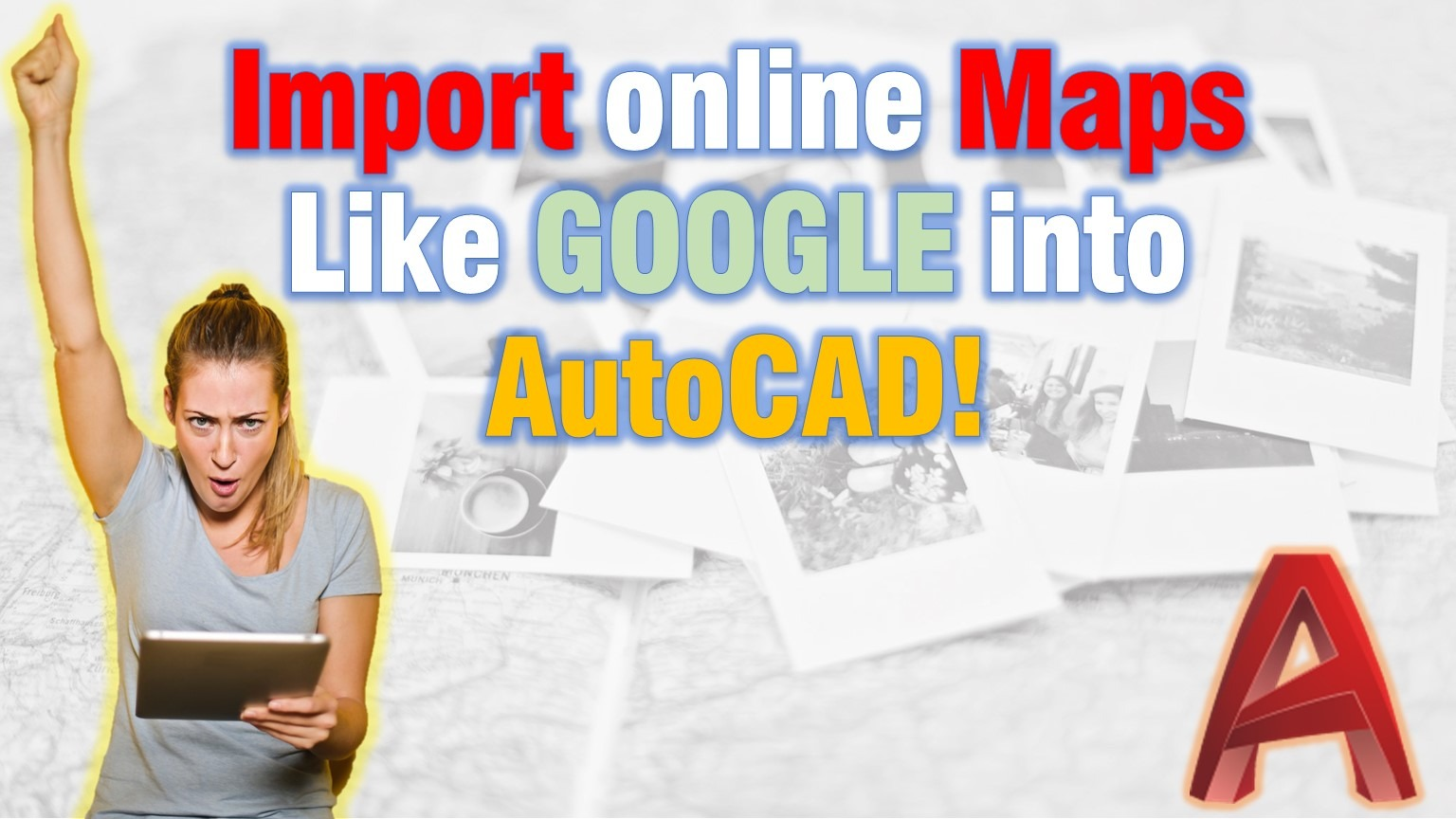 Import online maps into AutoCAD