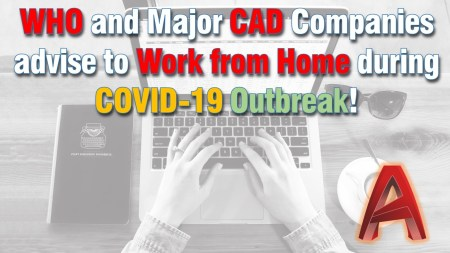 AutoCAD Work from home COVID-19