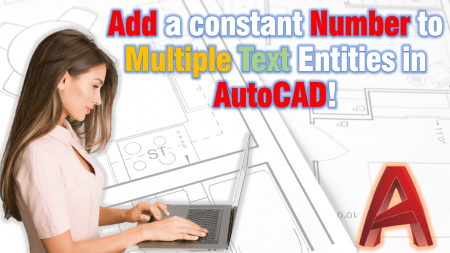 Add a number to Text entities AutoCAD