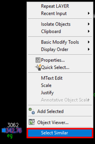 Select Similar autocad and how to quick select objects by color