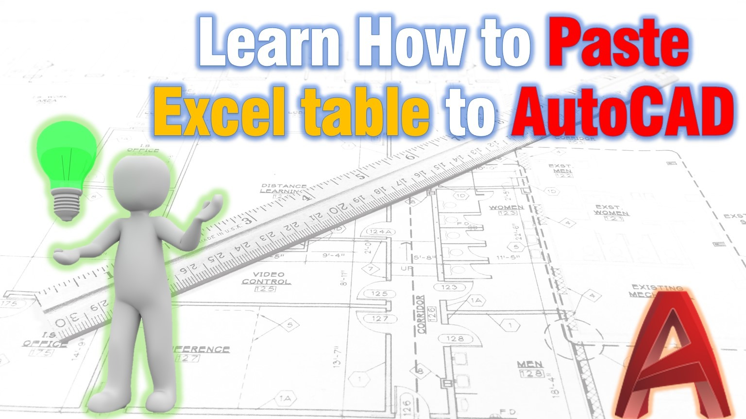 How to paste excel table to AutoCAD