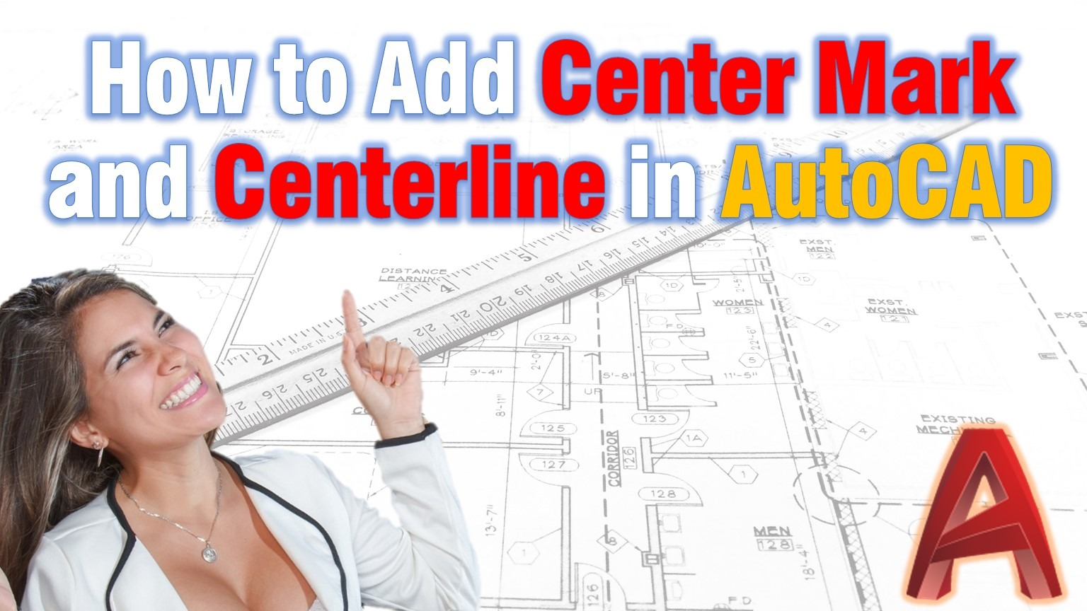 how to add centerline or centermark in AutoCAD