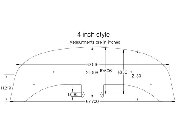 280ZX 4-INCH Front Splitter for Aftermarket Air Dam(s) - specs