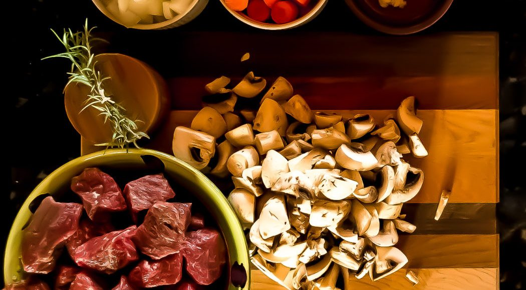 Ingredients for beef stew