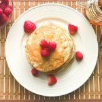 Cottage Cheese Pancakes with raspberries